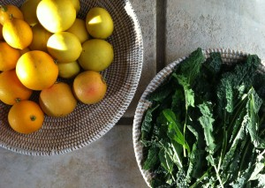 citrus and kale
