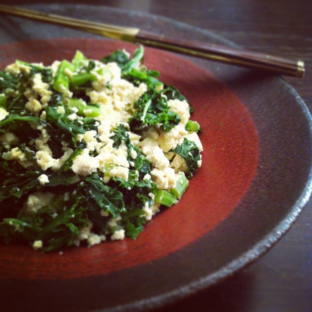 sauteed kale and tofu