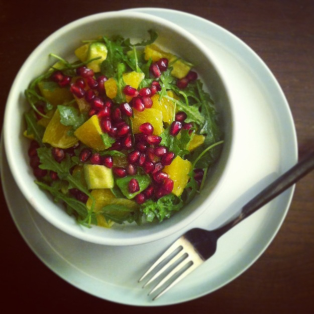 orange and pomegranate salad