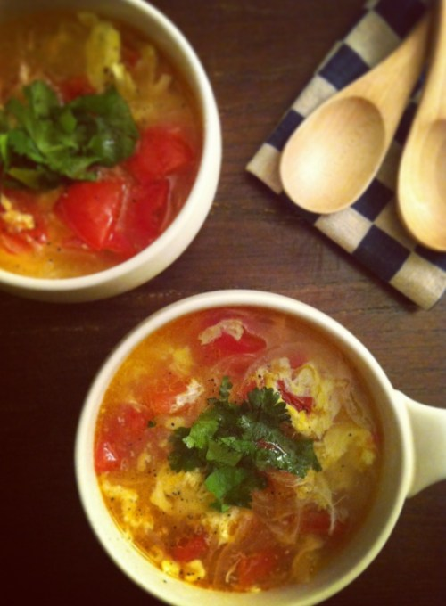 tomato egg drop soup