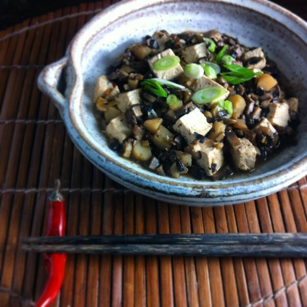 mushroom ma po tofu